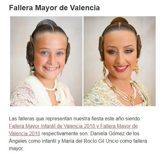 Fallera Mayor 2018